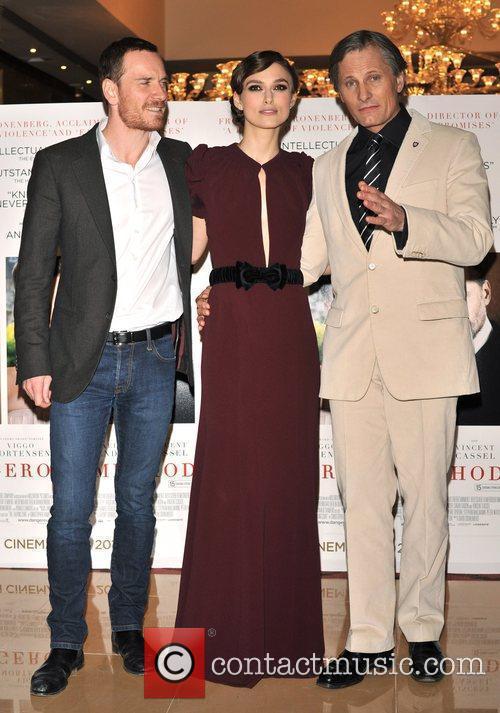 Keira Knightley, Michael Fassbender and Viggo Mortensen 3
