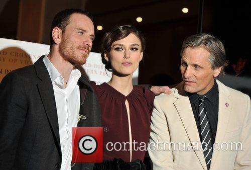 Keira Knightley, Michael Fassbender and Viggo Mortensen 5