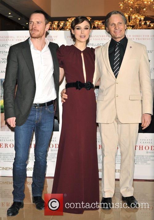 Keira Knightley, Michael Fassbender and Viggo Mortensen 6