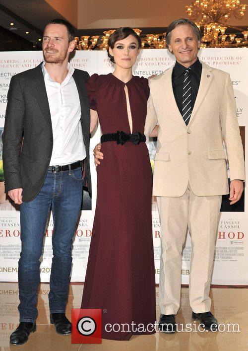 Keira Knightley, Michael Fassbender and Viggo Mortensen 7