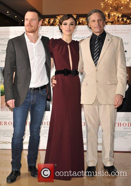Keira Knightley, Michael Fassbender and Viggo Mortensen 9