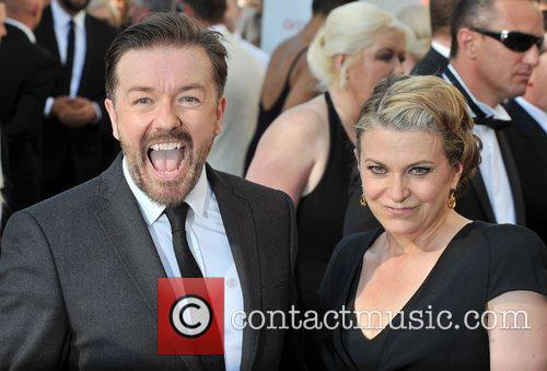 Ricky Gervais and guest The 2012 Arqiva British...