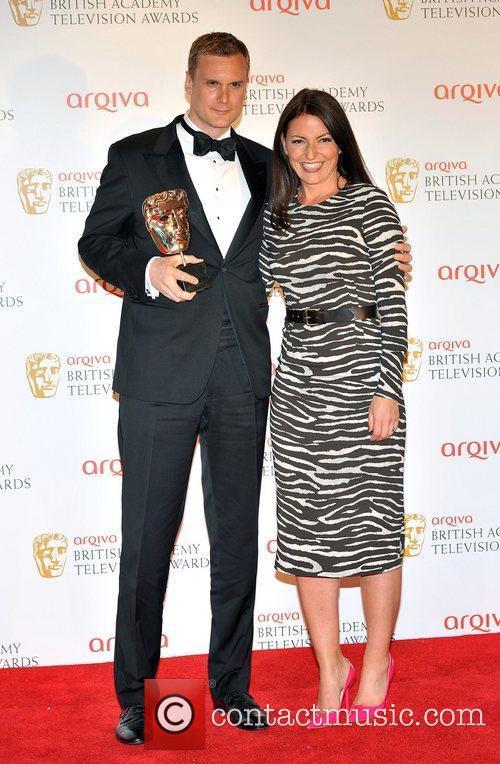 Darren Boyd and Davina McCall The 2012 Arqiva...