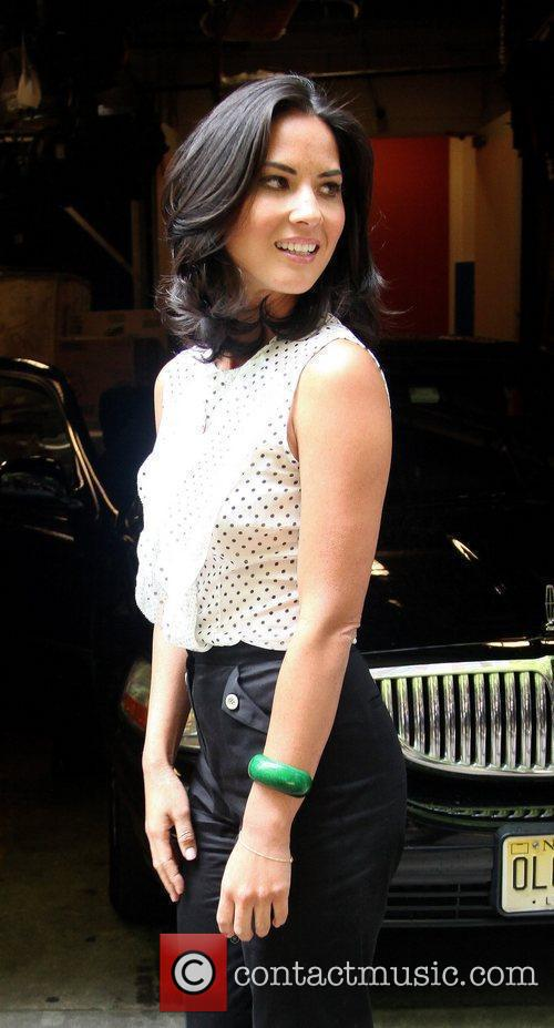 Outside ABC studios after her appearance on 'Live!...