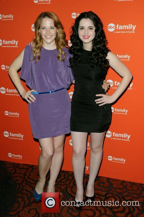 Katie Leclerc and Vanessa Marano ABC Family Upfront...