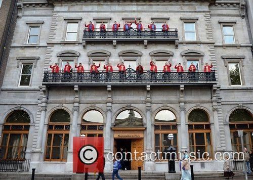 American retailer Abercrombie & Fitch opens a flagship...