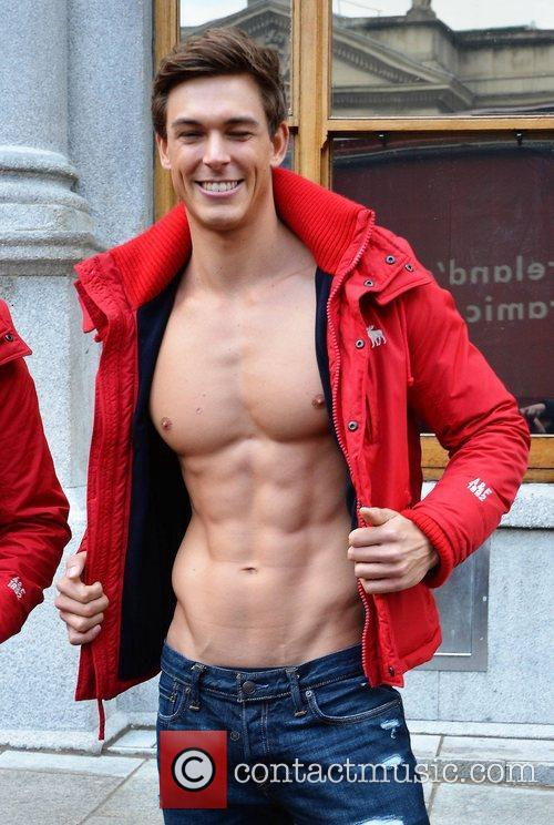 Model American retailer Abercrombie & Fitch opens a...