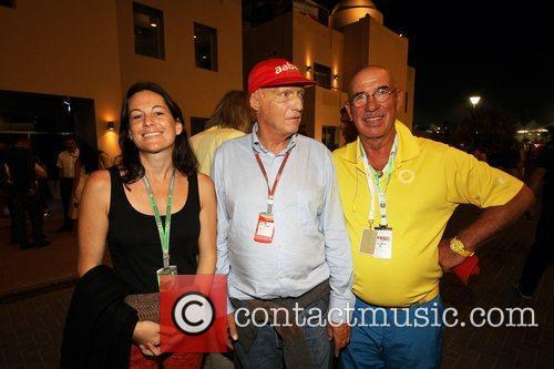 Ehefrau Birgt, Niki Lauda and Otto Retzer...