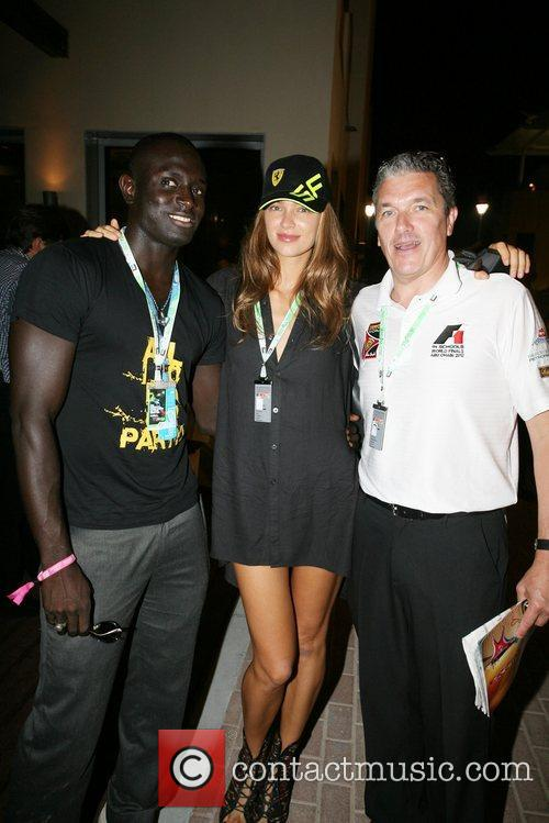 Ibou Thiam (L) with Model and friend...