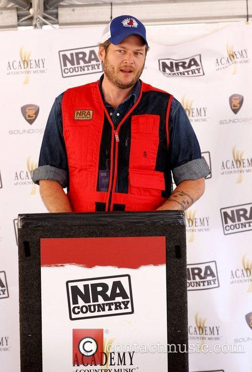 Blake Shelton NRA Country ACM Celebrity Shoot at...