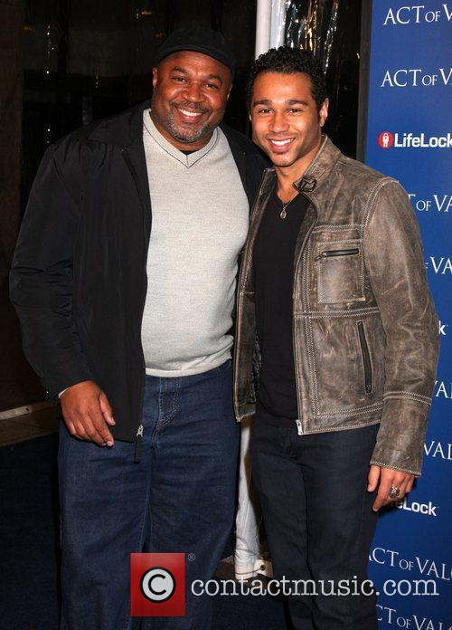 Corbin Bleu and his father The Los Angeles...