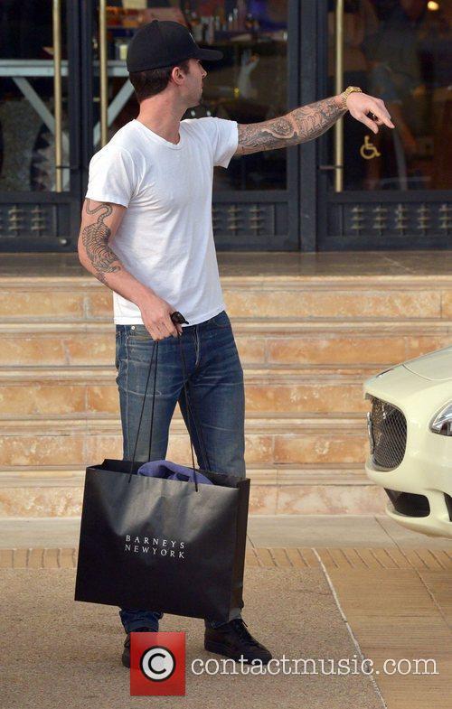 Adam Levine leaves Barneys New York Los Angeles,...