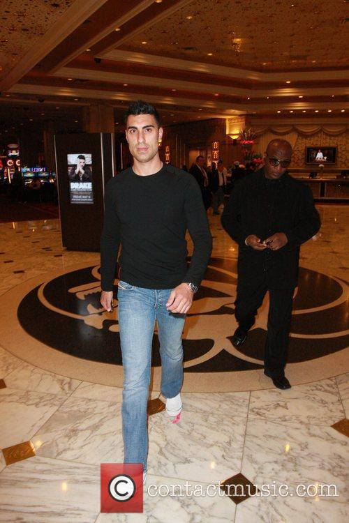 Adam Sabbagh leaves the MGM Grand Garden Arena...