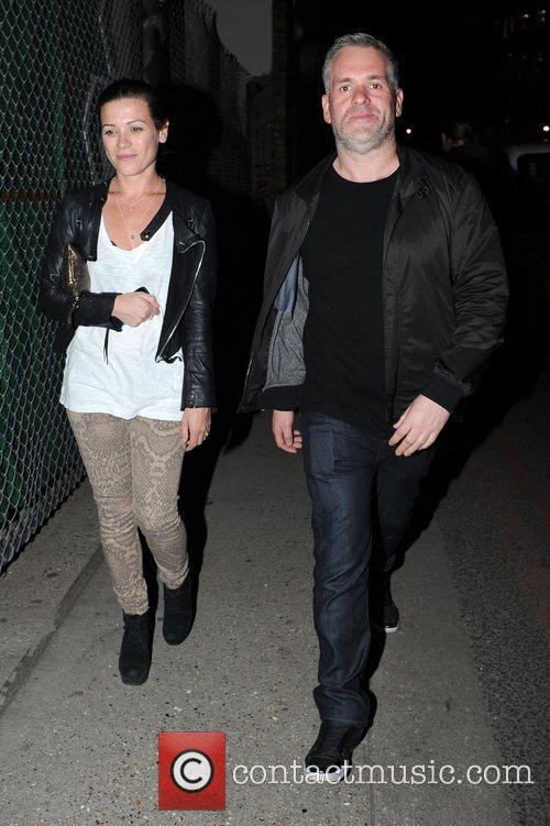 Chris Moyles Celebrities leave the Adidas Underground party...