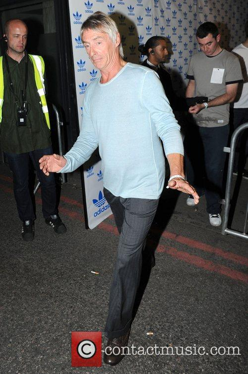 Paul Weller Celebrities leave the Adidas Underground party...