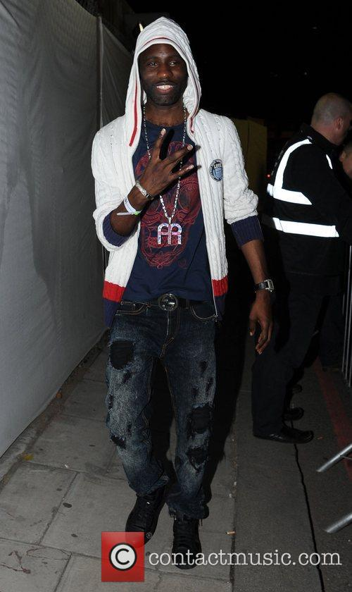 Wretch 32 Celebrities leave the Adidas Underground party...