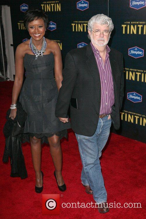 Mellody Hobson, George Lucas and Ziegfeld Theatre 2
