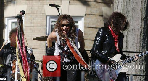 Aerosmith perform in front of 1325 Commonwealth Ave....