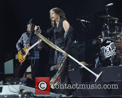 Aerosmith performs at the Air Canada Centre during...