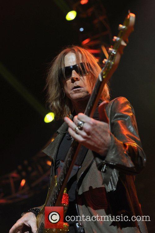 Tom Hamilton  Aerosmith performs at the Air...