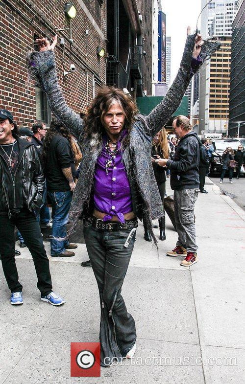 Steven Tyler, Arriving At The Late Show