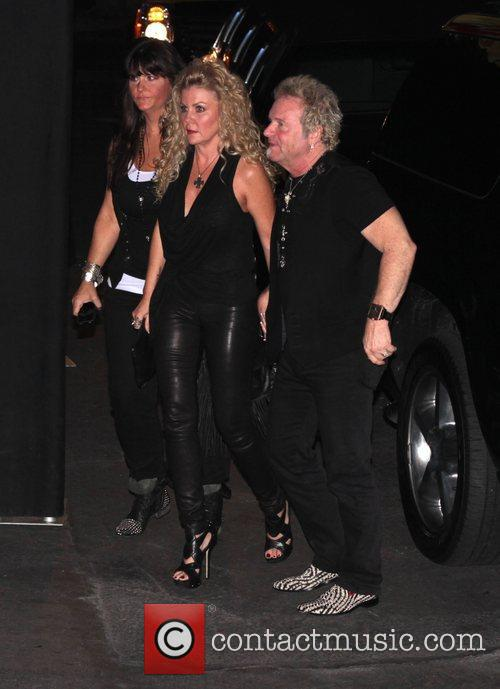 Joey Kramer at Steven Tyler's party at Pink...