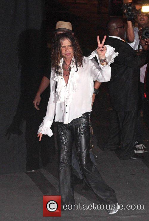 Steven Tyler hosts Aerosmith a party at Pink Taco