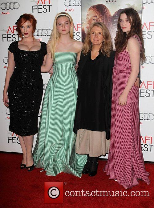 Christina Hendricks, Elle Fanning, Sally Potter, Alice Englert and Grauman's Chinese Theatre 7