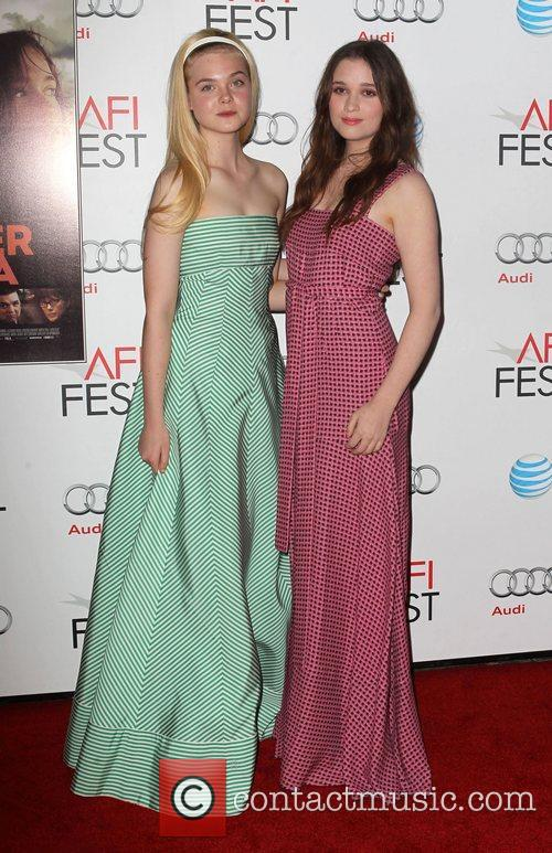Elle Fanning, Alice Englert and Grauman's Chinese Theatre