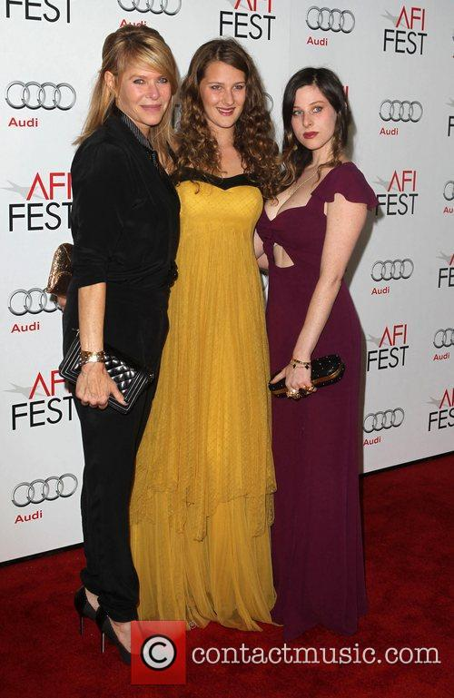 Kate Capshaw, Destry Allyn Spielberg, Sasha Spielberg and Grauman's Chinese Theatre 2