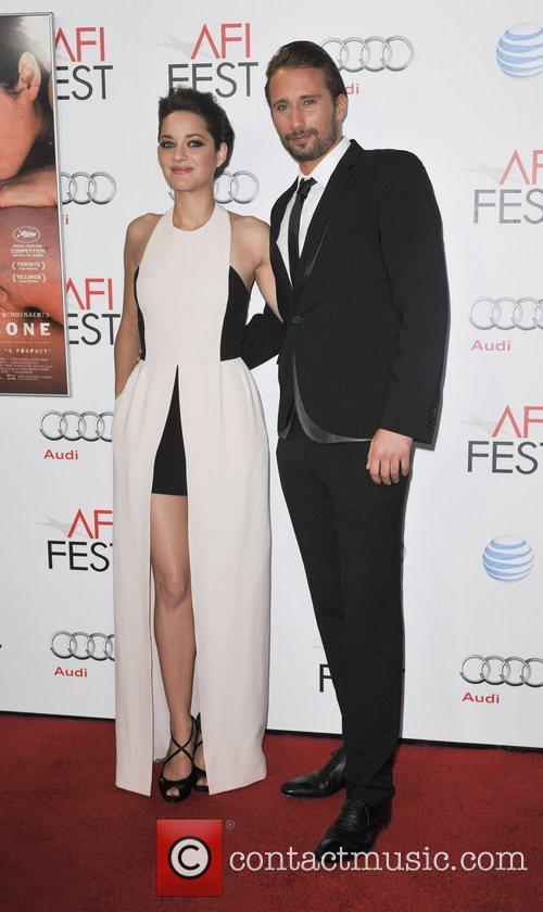 Mathias Schoenaerts, Marion Cotillard and Grauman's Chinese Theatre 4