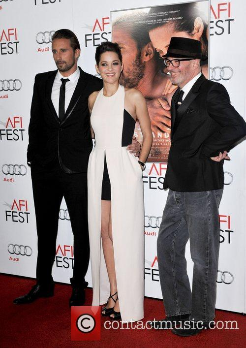 Mathias Schoenaerts, Marion Cotillard, Jacques Audiard and Grauman's Chinese Theatre 10