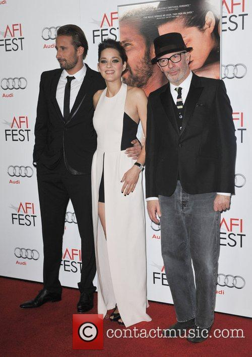 Mathias Schoenaerts, Marion Cotillard, Jacques Audiard and Grauman's Chinese Theatre 8