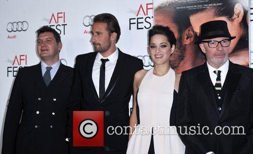 Tom Bernard, Mathias Schoenaerts, Marion Cotillard, Jacques Audiard and Grauman's Chinese Theatre 3