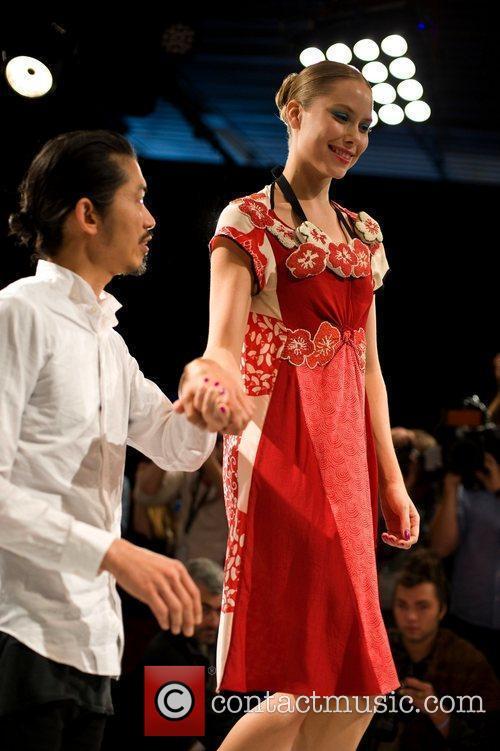 Akira Isogawa and Model  Australian Fashion Week...
