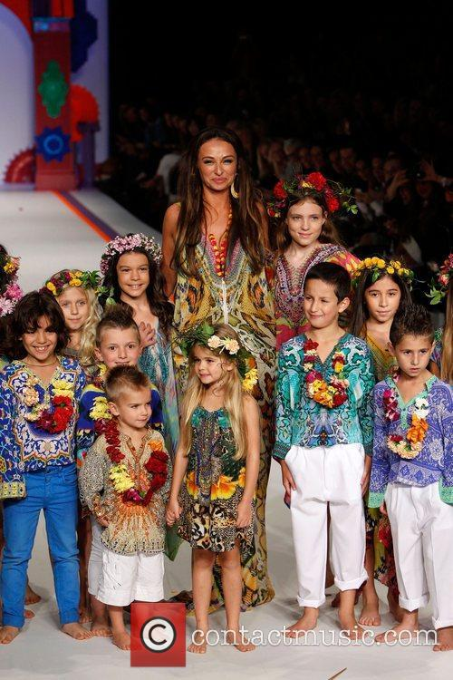 Camilla Franks and models  Australia Fashion Week...