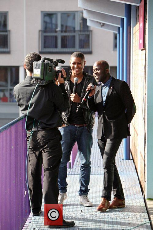 Rickie Haywood-Williams and Melvin Odoom  UK celebrities...