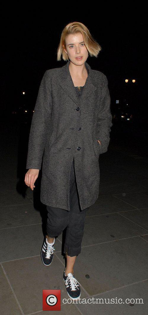 agyness deyn leaving trafalgar studios london england   120312 3776060
