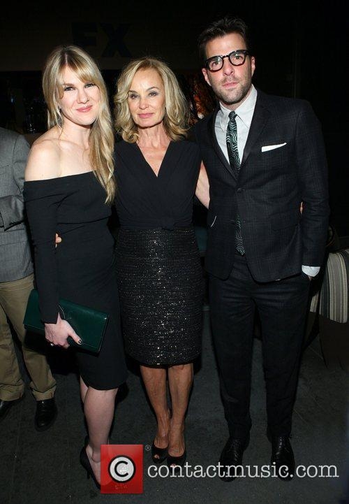 Lily Rabe, Jessica Lange and Zachary Quinto 1