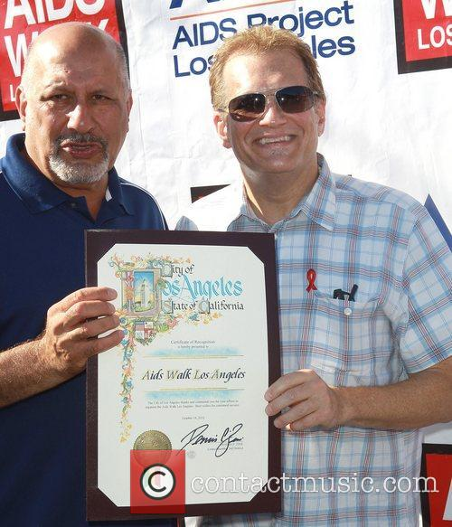 Councilman Dennis P. Zine and Drew Carey 2