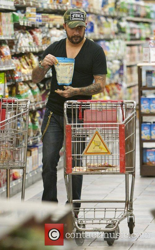 A.J. McLean shopping at Gelson's Supermarket Los Angeles,...