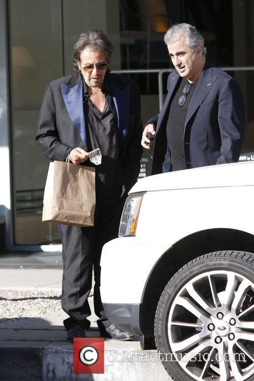 A dishevelled Al Pacino wearing an ill-fitting blue...
