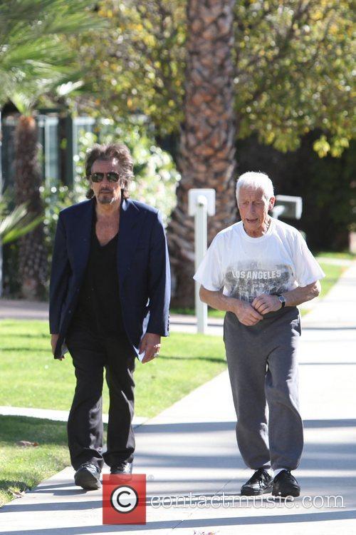Al Pacino walking in Beverly Hills Los Angeles,...