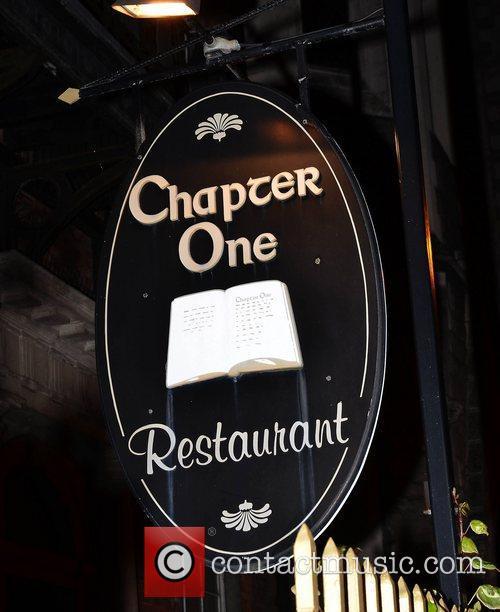 Chapter One restaurant sign Dublin, Ireland