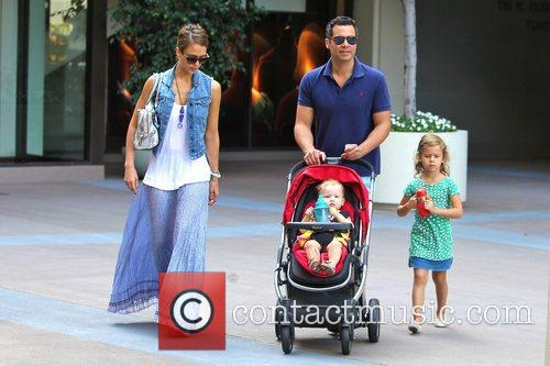 Jessica Alba, Cash Warren, Honor Marie Warren, Haven Garner Warren, Newsroom and West Hollywood 6