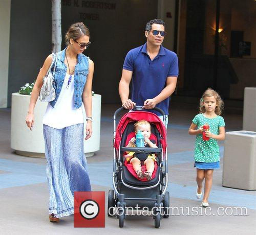 Jessica Alba, Cash Warren, Honor Marie Warren, Haven Garner Warren, Newsroom and West Hollywood 11