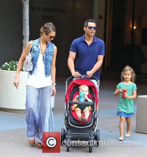 Jessica Alba, Cash Warren, Honor Marie Warren, Haven Garner Warren, Newsroom and West Hollywood 7