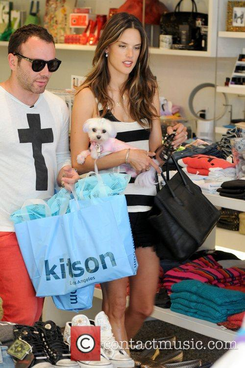 Alessandra Ambrosia seen shopping at Kitson in West...