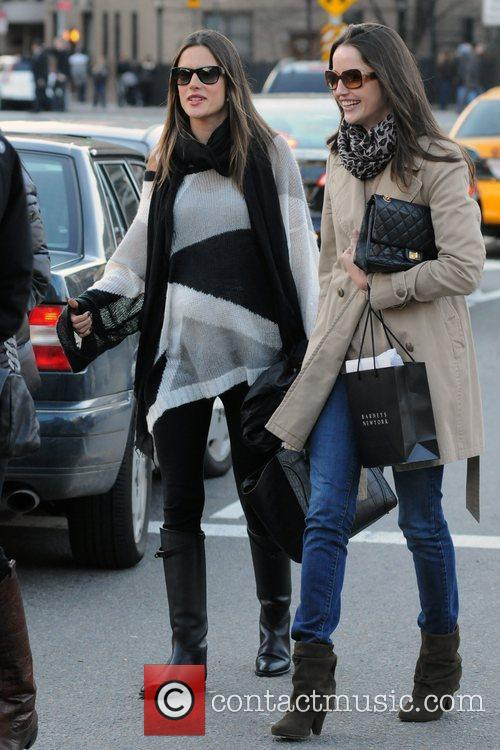 Pregnant Alessandra Ambrosio and friends out and about...