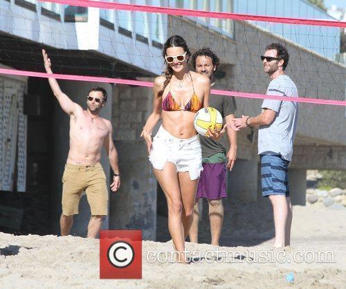 alessandra ambrosio plays volleyball on malibu beach malibu 3982240